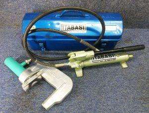板橋(ITABASHI)手動油圧式パイプ圧着機 断水器 スチールケース付