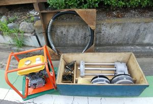 コスモ工機 コスモボーラー 不断水穿孔機 SDL 50~100mm ロビンエンジン付