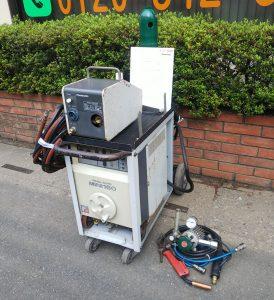 パナソニック(Panasonic) PANA AUTO MINI160 CO2/MAG 半自動溶接機 ワイヤ送給装置 ケーブル ガスボンベ付